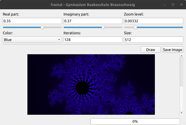 Fractal: A simple (and highly inefficient) fractal viewer written in Qt