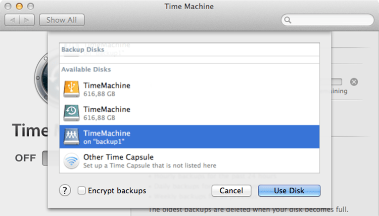 Backup Mac OS X Mavericks to AFP share on Debian with Time Machine